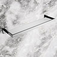 Kylpyhuonehylly Ruostumaton teräs Seinään asennettu 56.7*14.25*5.5cm(22.32*5.61*2.17inch) Ruostumaton teräs / Lasi Moderni