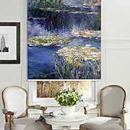 Abstract Oil Painting Style Flowing River Roller Shade