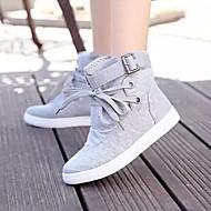 Γυναικεία παπούτσια - Μοντέρνα Αθλητικά - Καθημερινά - Επίπεδο Τακούνι - Ανατομικό / Στρογγυλή Μύτη - Πανί - Μαύρο / Γκρι