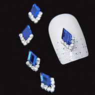 10kpl sininen Marquise 3d tekojalokivi DIY metalliseos tarvikkeet kynsikoristeet koriste