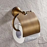 Toalettrullholder Antikk messing Veggmontert 130*119mm(5.11*4.68tommer) Messing Antikk
