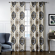 Two Panels Curtain Designer Bedroom Polyester Material Home Decoration For Window