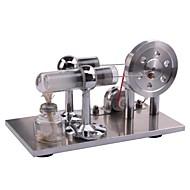 Stirling Machine skjerm Modell Pedagogisk leke Vitenskaps- og oppdagelsesleker Motor Motormodell Aluminium Metall Kvadrat LED GDS