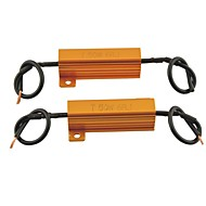 Araba evrensel led lamba-50w 6ohm için yük direnci koruyucusu led (2 adet)