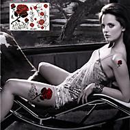 Serie de Flori Acțibilde de Tatuaj - Multicolor - Model - 21*14.5cm(8.3*5.7in) - Dame/Bărbați/Adult/Adolescent - Hârtie -