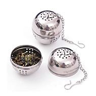 aço inoxidável chá infusor peneira de malha de filtro de bloqueio 8.5x4.5x4cm bola especiaria