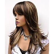 Damen Synthetische Perücken Kappenlos Lang Natürlich gewellt Braun Kostüm Perücken