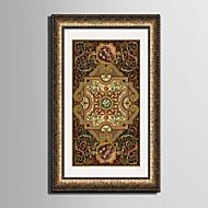 Fantasie Ingelijst canvas / Ingelijste set Wall Art,PVC Gouden Inclusief passepartout met Frame Wall Art