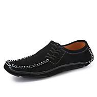 Herre-Nappa Lær-Flat hæl-Komfort-Treningssko-Kontor og arbeid Fritid-
