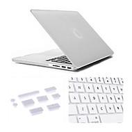 3 em 1 caso fosco com tampa teclado e silicone plugue poeira para macbook retina de 13,3 polegadas