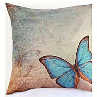blauwe vlinder kussensloop bank home decor kussenhoes (17 * 17 inch)