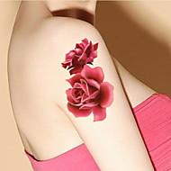 1 - 22*15cm - Πολύχρωμο - Peony Blooming Flowers Small Fresh - BR - Σειρά Κοσμημάτων / Σειρά Λουλουδιών / Σειρά Τοτέμ / Άλλα -Αυτοκόλλητα