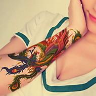 1 - 22*15cm - Πολύχρωμο - Phoenix Flower - BR - Σειρά Κοσμημάτων / Σειρά Λουλουδιών / Σειρά Τοτέμ / Άλλα - Αυτοκόλλητα Τατουάζ -Non Toxic