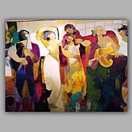 Pintados à mão Pessoas Horizontal,Moderno 1 Painel Tela Pintura a Óleo For Decoração para casa