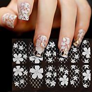 3D Nail Stickers / Other Decorations-Muuta-Kukka / Abstrakti / Häät-Sormi-15*7.5-1