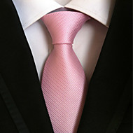 Pruhy - Kravata (Růžová , Polyester)