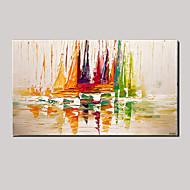 Maalattu Abstrakti / Maisema / Asetelma / FantasyModerni 1 paneeli Kanvas Hang-Painted öljymaalaus For Kodinsisustus