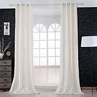 Dvije zavjese Prozor Liječenje Dizajnerske , Jednobojni Bedroom Posteljina Materijal Zavjese Zavjese Početna Dekoracija For Prozor