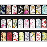 Other Decorations-PVC-Kukka-Sormi / Varvas-7cm*13cm each piece-5pcs mix random water nail stickers