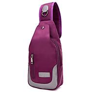 Unisex Nylon Sport / Fritid / Shopping / Friluft / Profesjonelle bruk Ransel / Cross Body Bag / Livvidde Bag / Sling SkulderveskerLilla /
