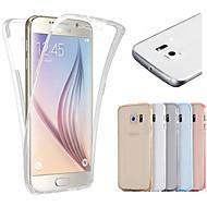 Para Samsung Galaxy S7 Edge Transparente Capinha Corpo Inteiro Capinha Cor Única TPU Samsung S7 edge / S7 / S6 edge / S6