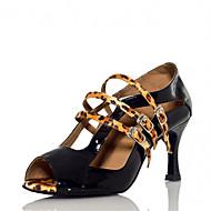 Sapatos de Dança(Azul / Leopardo) -Feminino-Personalizável-Latina / Jazz / Salsa / Samba / Sapatos de Swing
