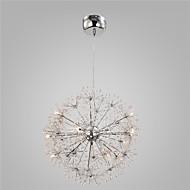 modern króm függesztett lámpák földgömb pitypang fények 15 lámpák nappali