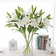 1 Set High Quality PU Simulation Lilies Decortive Fumishing Articles Floor Flower