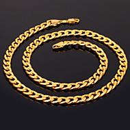 Dame Lănțișoare Circle Shape Placat Auriu La modă costum de bijuterii Bijuterii Pentru Nuntă Petrecere Ocazie specială Zi de Naștere