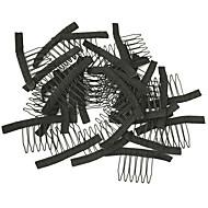 paróka így kiegészítők, paróka fésűk és klipek paróka sapka, fekete színű, olcsó ár 10db / tétel