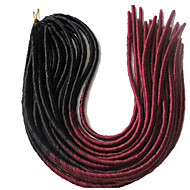 "מנעולי Dread הוואנה פחד פו סווצ 'ה הרחבות Dreadlock Kanekalon אפור 1B / BLUE burgundy 1b / # 30 תוספות שיער 20"" שיער צמות"