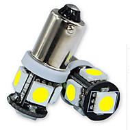 10pcs Jiawen / lot BA9S 0.8W 5x5050smd 55lm para lâmpada de carro (DC12V)