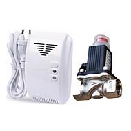 LPG Natural Gas Leak Detector Alarm With DN15 Electromagnetic Solenoid Valve Auto Shut Off