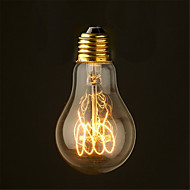 40W 2700K szüret Edison izzót a19 régi izzószálas stílus izzók közepes (ac220-240v)