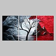 Hånd-malede Abstrakt Oliemalerier,Traditionel Tre Paneler Kanvas Hang-Painted Oliemaleri For Hjem Dekoration