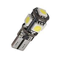 10 x chyba CANbus bezplatné bílé T10 5-SMD 5050 interiér LED žárovky W5W 194 168