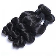 Ljudska kosa Malezijska kosa Ljudske kose plete Valovita kosa Ekstenzije za kosu 3 komada Crna