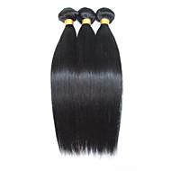 Menneskehår, Bølget Brasiliansk hår Lige 12 måneder 3 Dele hår vævninger