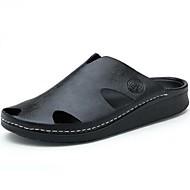 Αντρικό-Παντόφλες & flip-flops-Καθημερινό-Επίπεδο Τακούνι-Ανατομικό-Δέρμα-