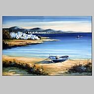 Pintados à mão Paisagens Abstratas Horizontal,Estilo Europeu Moderno 1 Painel Tela Pintura a Óleo For Decoração para casa
