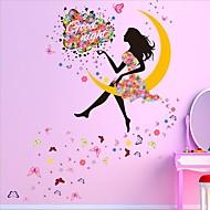 Piirretty Wall Tarrat Lentokone-seinätarrat Koriste-seinätarrat / Häätarrat,PVC materiaali Irroitettava / Siirrettävä Kodinsisustus