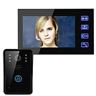Ennio 7 de vídeo porta telefone sistema de interfone campainha botão de toque remoto desbloquear visão nocturna câmera de segurança CCTV