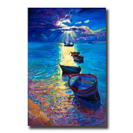 Pintados à mão Abstracto / Paisagem / Vida Imóvel Pinturas a óleo,Modern / Estilo Europeu 1 Painel Tela Hang-painted pintura a óleo For