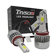Universalität 2x H11 LED Scheinwerfer cob 110w Auto Scheinwerfer Lampe Umrüstsatz Licht 6500k Auto Scheinwerfer geführt