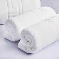 Badehåndkle Sett Hvit,Mønstret Høy kvalitet 100% Bomull Håndkle