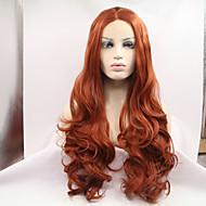 Naisten Kullanruskea Hiukset Luonnollinen hiusviiva Synteettiset hiukset Lace FrontLuonnollinen peruukki Halloween Peruukki Carnival