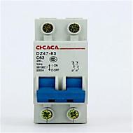 kleine stroomonderbreker dz47-2p 10a-32a lucht switch stroomonderbreker