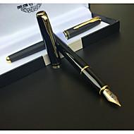 펜 펜 분수 펜 펜,금속 통 블랙 잉크 색상 For 학용품 사무용품 팩