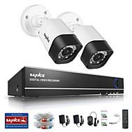 Sannce® 1.0mp 720p 4ch hd 4 in1 tvi h.264 dvr in / outdoor cctv система безопасности камеры