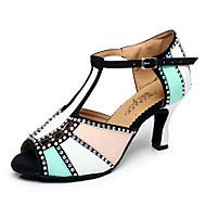 Sapatos de Dança(Azul / Vermelho / Outro) -Feminino-Personalizável-Latina / Jazz / Tênis de Dança / Moderna